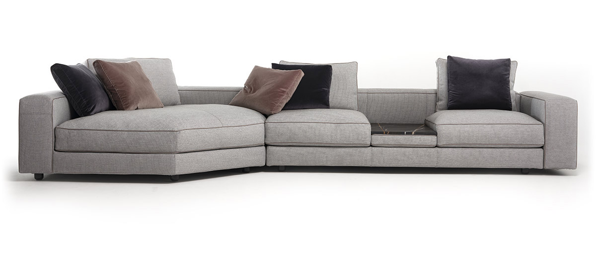 Mussi Sinfonia sectional sofa with insert table
