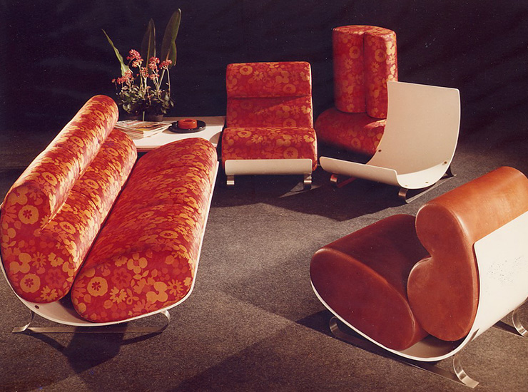 Mussi sofa and armchairs '60s - '70s