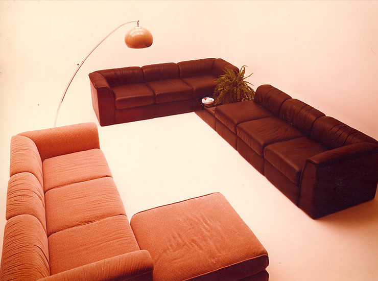 Mussi sectional sofas '60s '70s