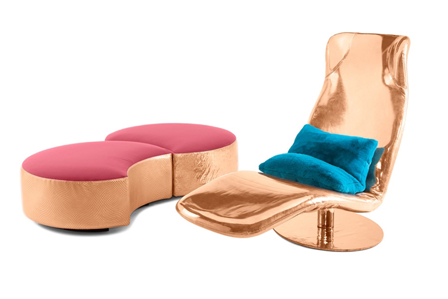 Mussi masterpieces: custom cover for Kangura armchair and Sedutalonga sofa
