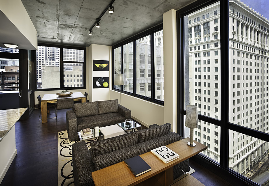 Mussi contract furniture projects: Buren Chicago interiors