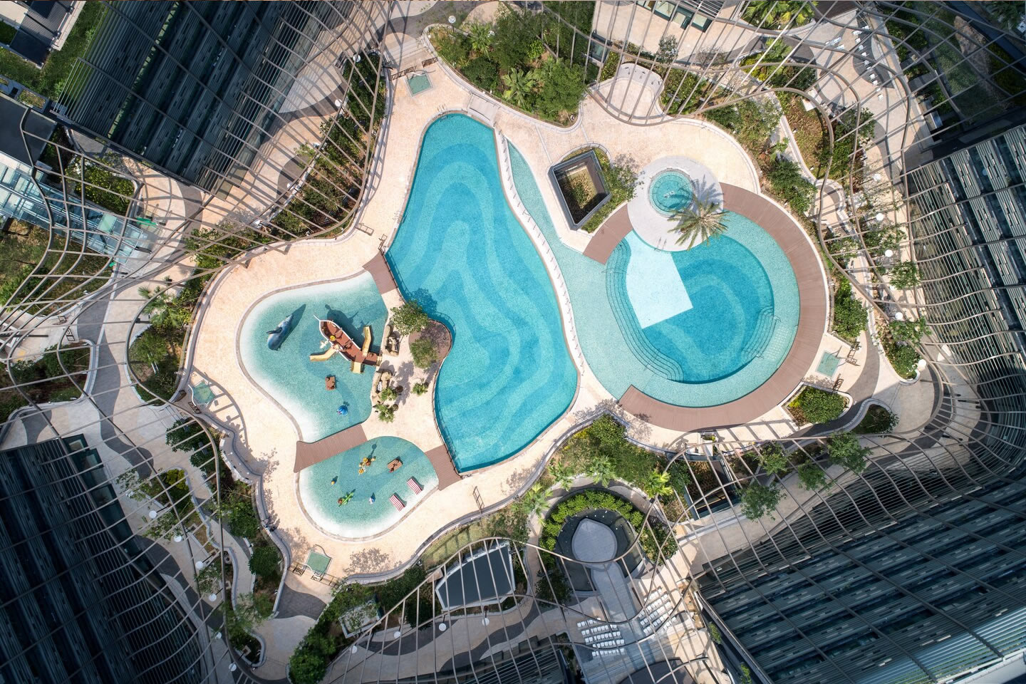 Mussi contract projects: Marriott Ocean Park Hong Kong aerial view